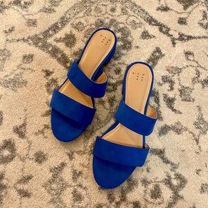 Royal Blue Slip On Sandals